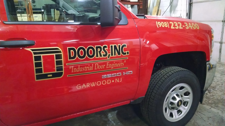 Doors Red Truck Lettering – NJ Sign Company | Advertising ...