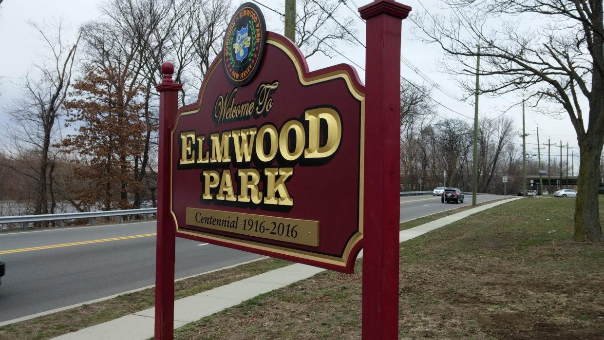 Carved 23k Gold Leaf PVC Sign for the Borough of Elmwood Park.